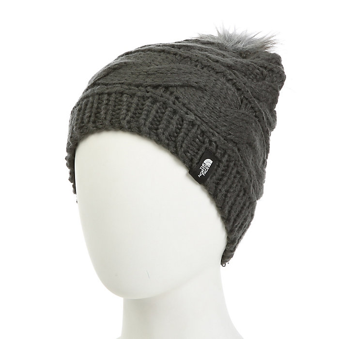 The North Face Triple Cable Fur Pom Beanie - Moosejaw ab563cc36e36
