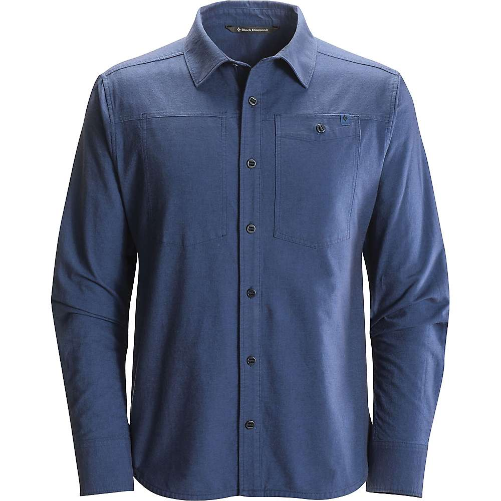Black diamond men 39 s chambray modernist ls shirt moosejaw for Chambray 7 s