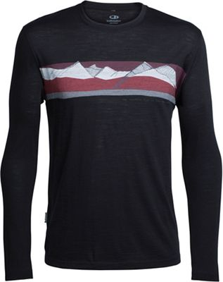 Icebreaker Men's Tech Lite LS South Alps Crewe