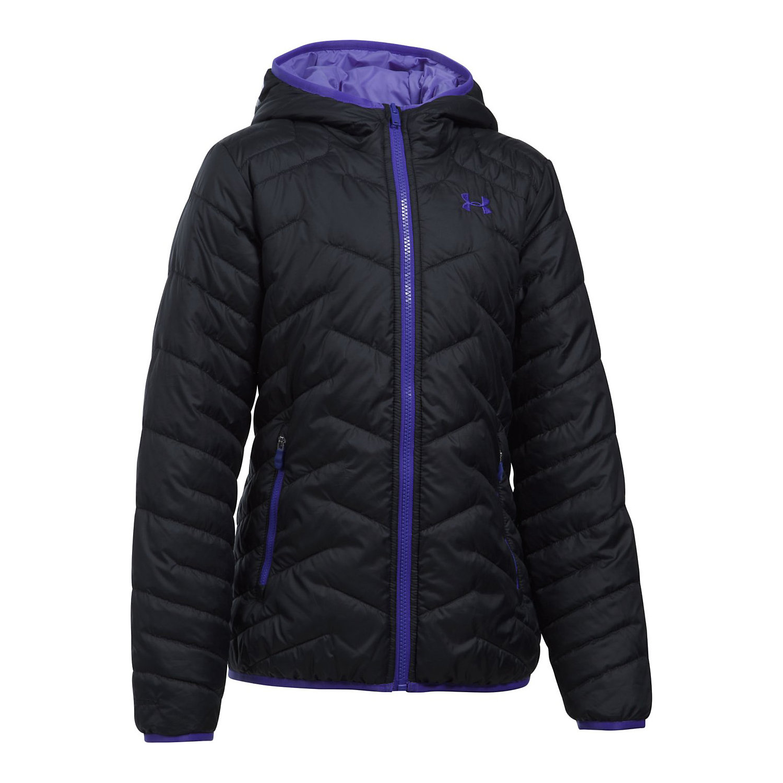 2d922bfc0a Under Armour Girls' UA ColdGear Reactor Hooded Jacket