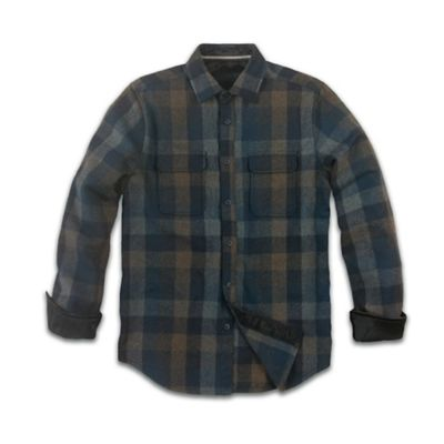 Jeremiah Men's Heath Poly Wool Brushed Twill LS Shirt