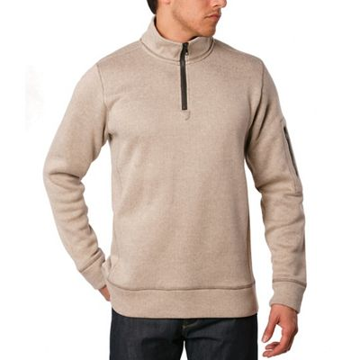 Jeremiah Men's Lance Herringbone Fleece Zip Mock Neck Top