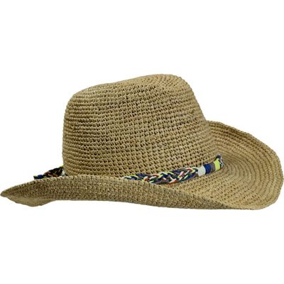 Turtle Fur Vermont Collection Beach Cowboy Raffia Straw Cowboy Style Hat