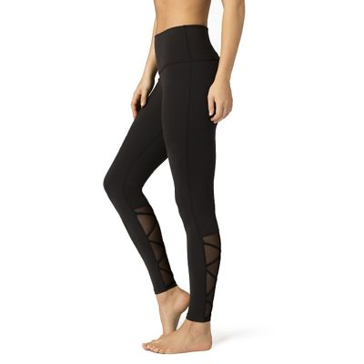 Beyond Yoga Women's High Waist Back Cross Mesh Long Legging