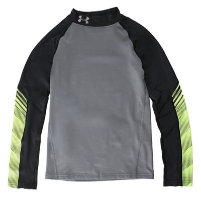 Under Armour Boys' ColdGear Armour Up Mock Neck Top
