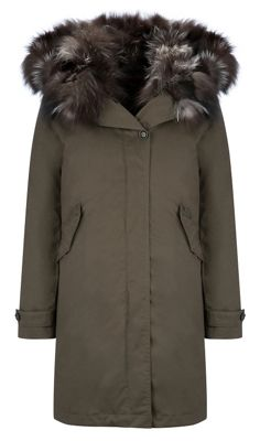 Woolrich John Rich & Bros. Women's Literary Patch Fox Eskimo Coat