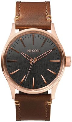 Nixon Men's Sentry 38 Leather Watch