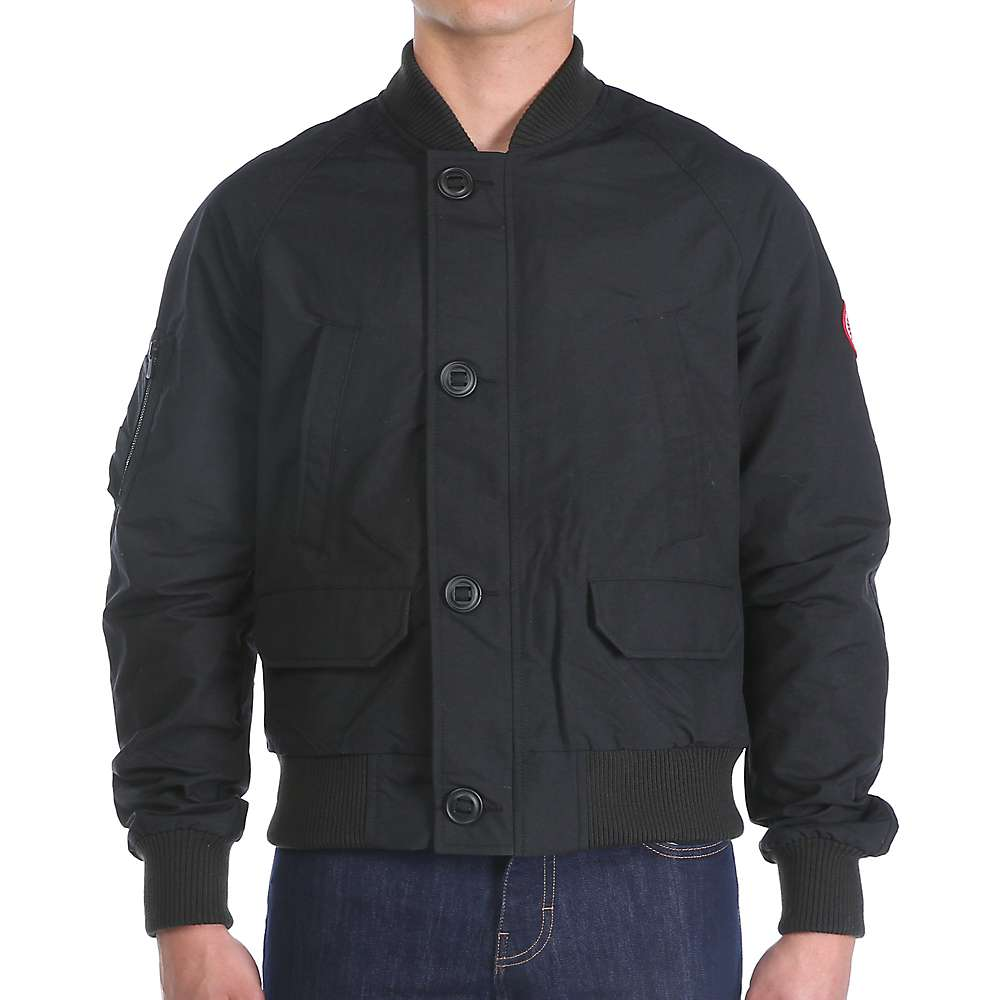 Canada Goose Men's Faber Bomber Jacket. Black. Pewter. Dark Sage. 0:00