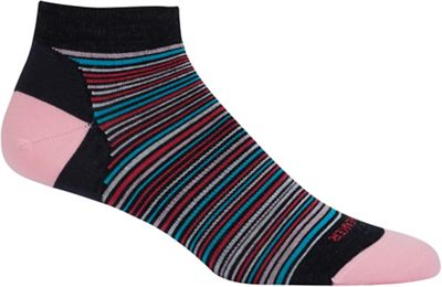 Icebreaker Women's Lifestyle Low Cut Fine Gauge Multi-Mini Stripe Sock