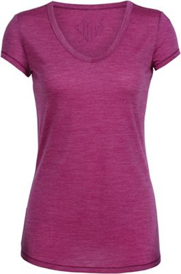 Icebreaker Women's Spheria SS Wild Heart Arrow V Neck Top
