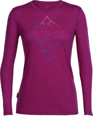 Icebreaker Women's Tech Lite LS V Neck Crewe - Graphic