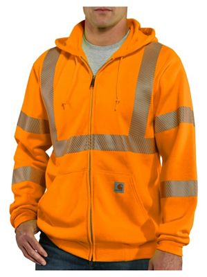 Carhartt Men's Hight-Visibility Zip Front Class 3 Sweatshirt