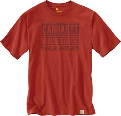 Carhartt Men's Workwear Graphic Born In Detroit SS T-Shirt