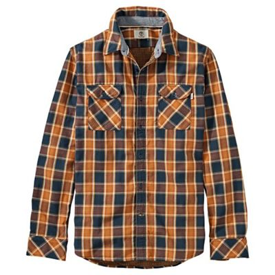 Timberland Men's Double Layer Plaid LS Shirt