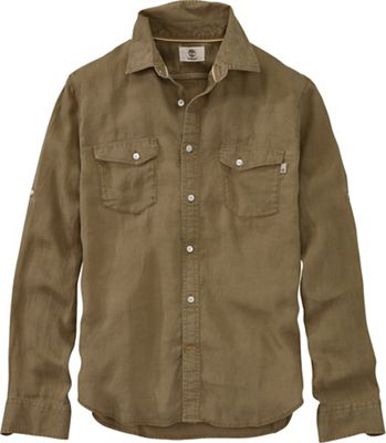 Timberland Men's Mill River Linen Cargo LS Shirt