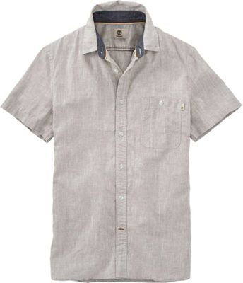Timberland Men's Mill River Cotton/Linen Chambray SS Shirt