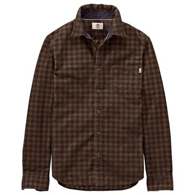 Timberland Men's Slim Fine Cord Solid LS Shirt