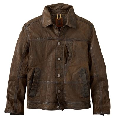 Timberland Men's Tenon Leather Bomber Jacket