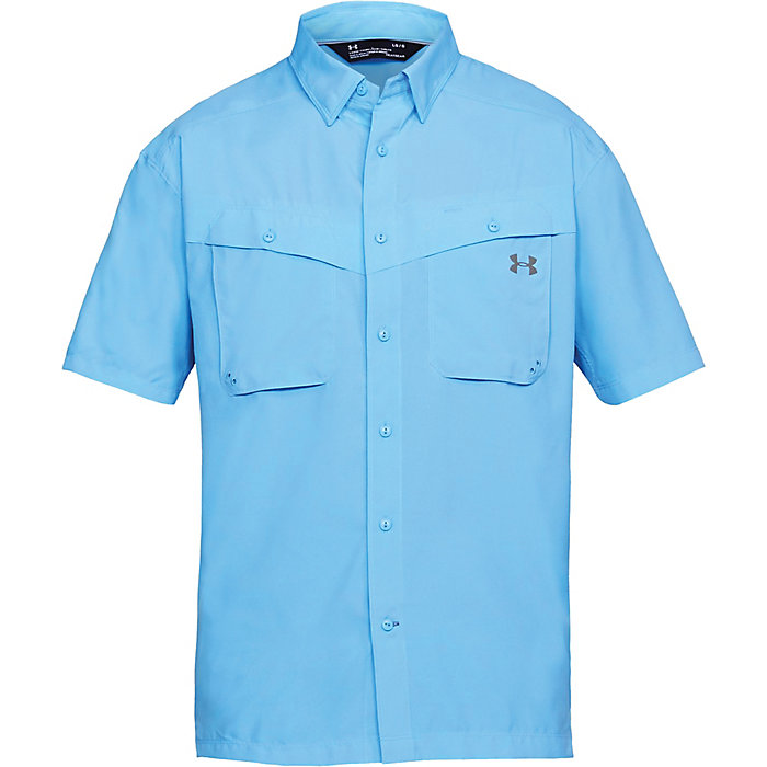 yellow $50 Under Armour Men/'s Tide Chaser Short Sleeve Fishing Shirt Sol 3XL