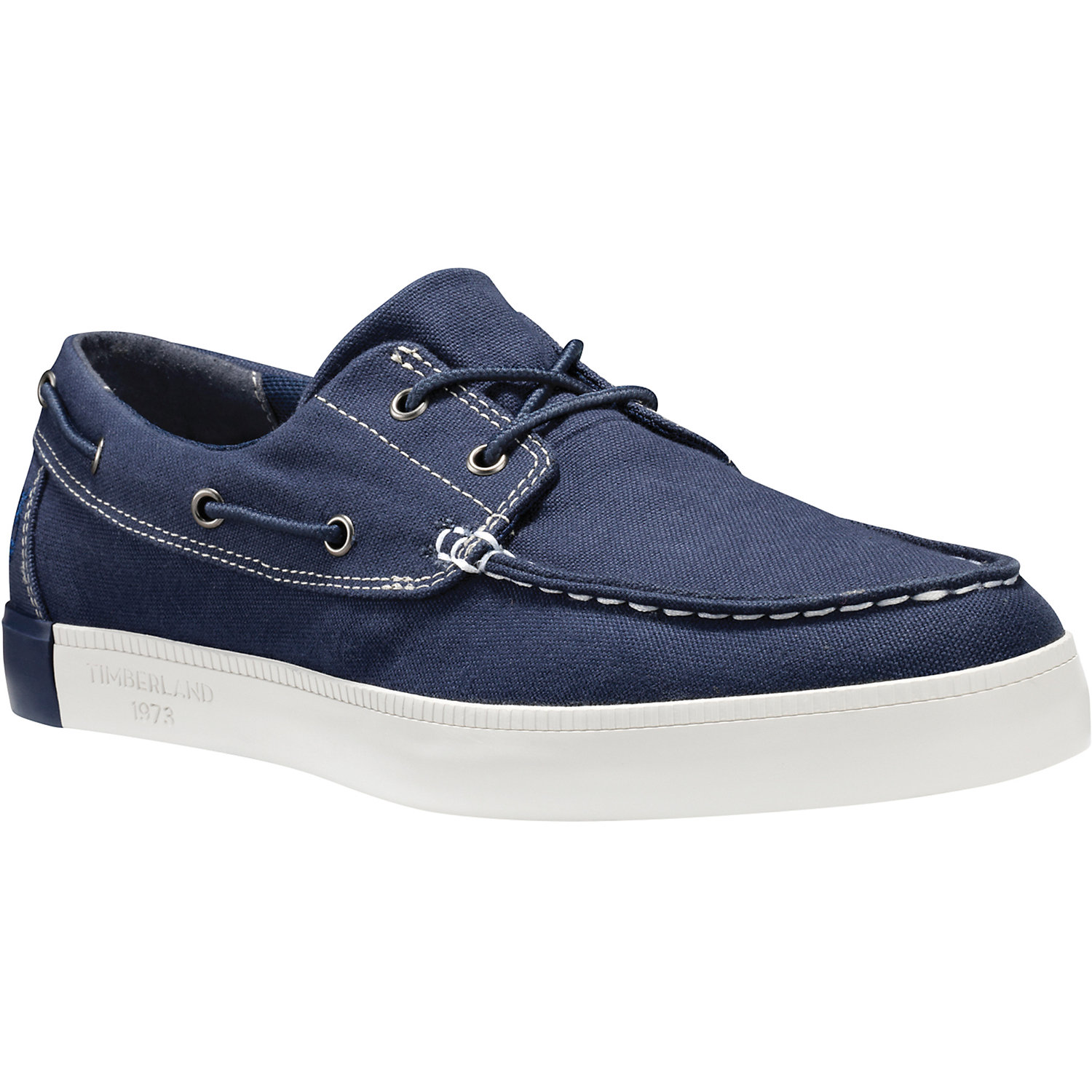 Timberland Classic 2 Eye Canvas Denim Boat Boat Shoes Deck