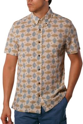 Jeremiah Men's Giles Cotton Linen Printed SS Shirt