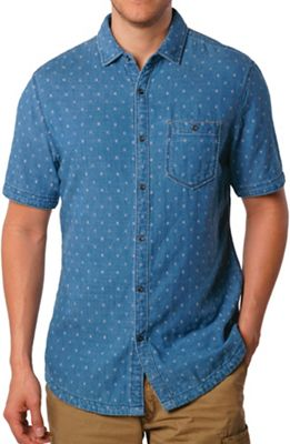 Jeremiah Men's Kit Reversible Indigo Jacquard SS Shirt