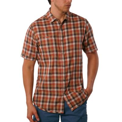 Jeremiah Men's Nomad Reversible Plaid with Print SS Shirt