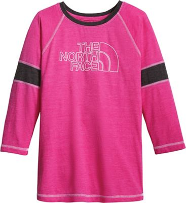 The North Face Girls' 3/4 Sleeve Tri-Blend Tee