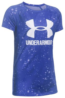 Under Armour Girls' UA Novelty Big Logo SS Tee