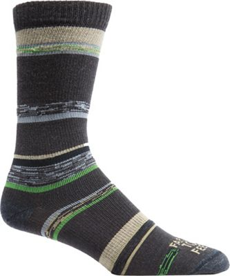 Farm To Feet Men's King Variegated Stripe UL Crew Sock