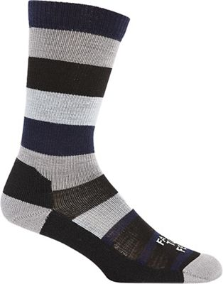 Farm To Feet Men's Rutherford College Wide Stripe LW Crew Sock