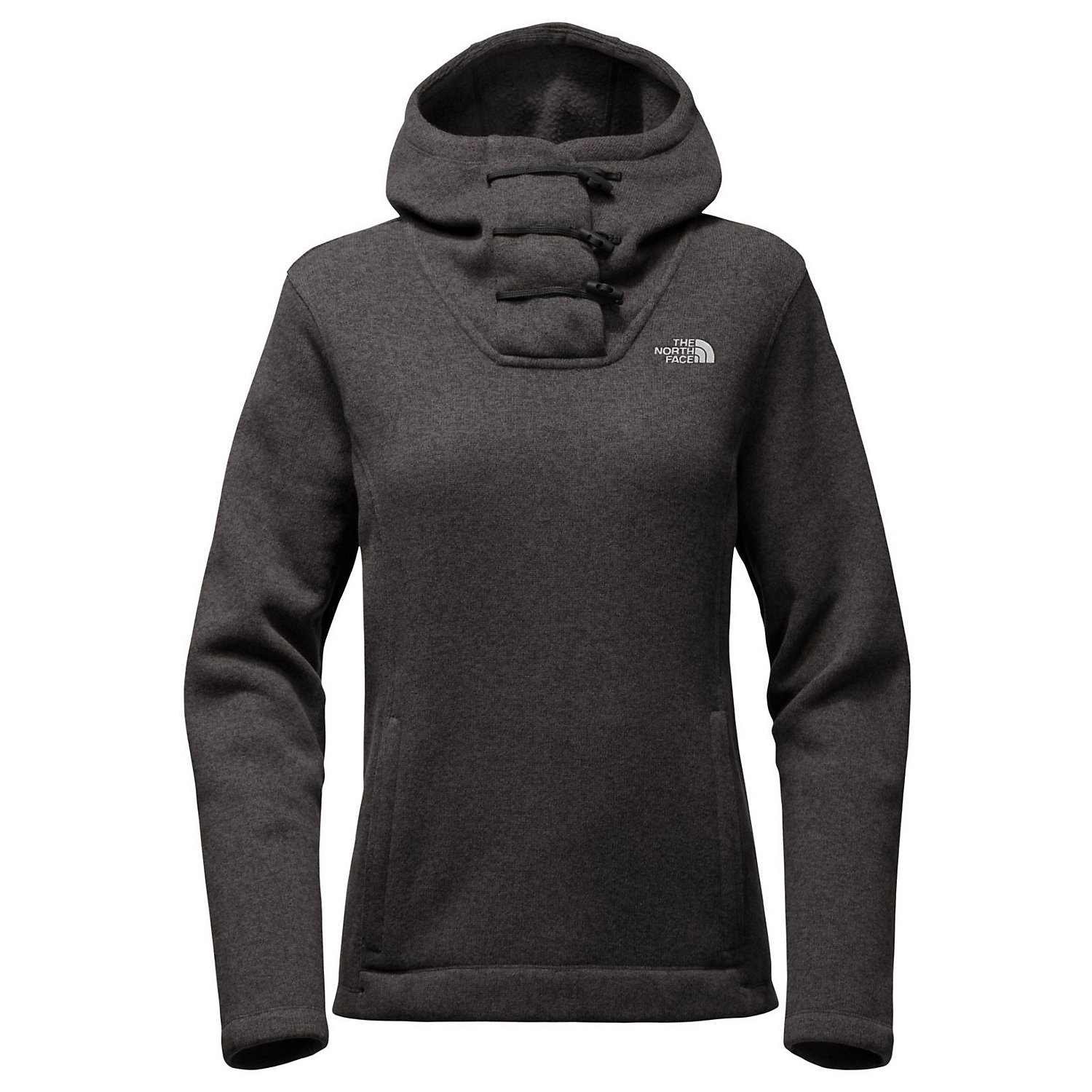 The North Face Womens Crescent Hood Pullover Size:Medium Color:Grey Brand New
