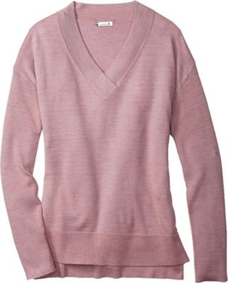 Smartwool Women's Akamina Color Block V-Neck Sweater