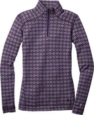 Smartwool Women's Merino 250 Baselayer Pattern 1/4 Zip Top