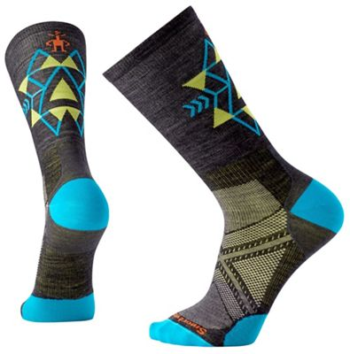 Smartwool PhD Run Ultra Light Pattern Crew Sock