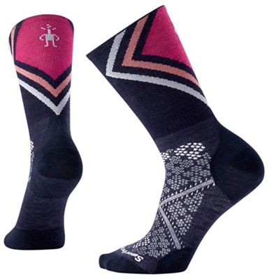 Smartwool Women's PhD Run Ultra Light Pattern Crew Sock
