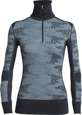 Icebreaker Women's Affinity LS Half Zip Flurry Top