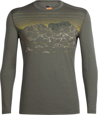 Icebreaker Men's Oasis Sky Night LS Crewe