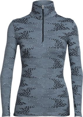 Icebreaker Women's Vertex LS Half Zip Flurry Top