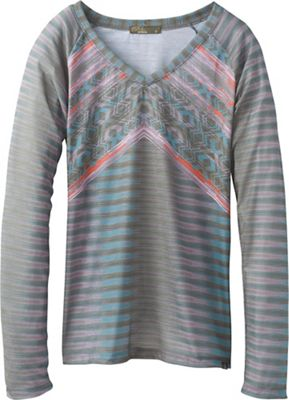 Prana Women's Baseball Portfolio V Neck LS Top