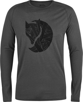 Fjallraven Men's Abisko Trail LS Printed T-Shirt