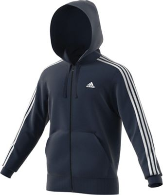 Adidas Men's Essential 3S Full Zip B Hoodie