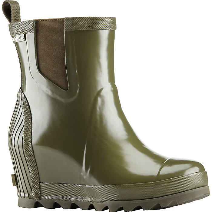 29b1a4968d5 Sorel Women s Joan Rain Wedge Chelsea Gloss Boot - Mountain Steals