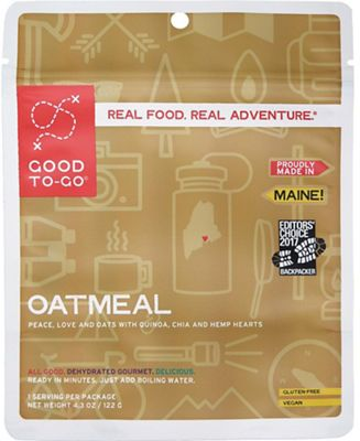 Good To-Go Gluten Free Oatmeal - Single Serving
