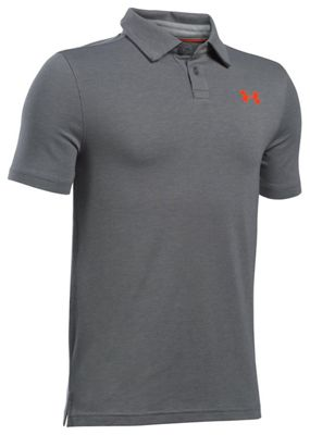 Under Armour Boys' UA Charged Cotton Heather Polo