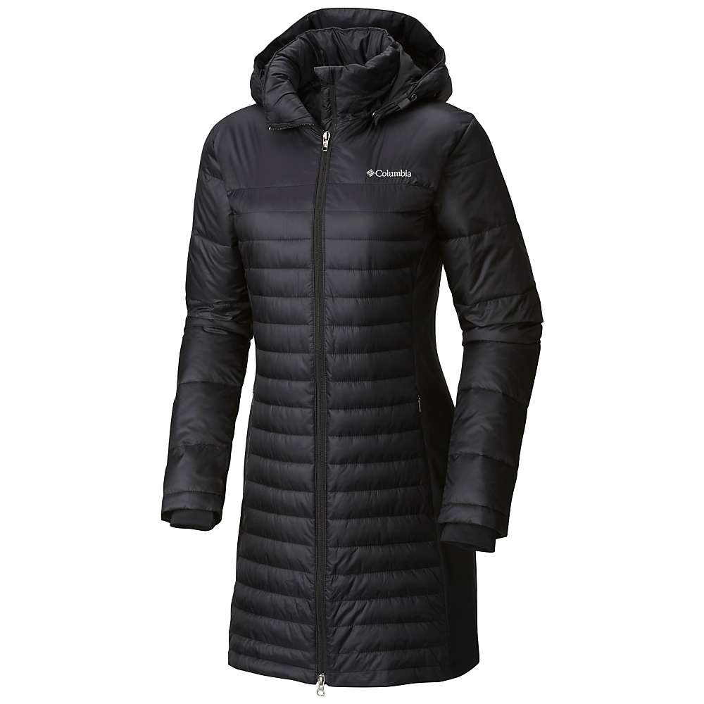 Columbia Women S Powder Pillow Hybrid Long Jacket At