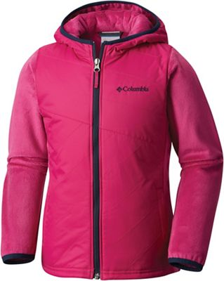 Columbia Youth Girls' Pearl Plush II Hybrid Hoodie