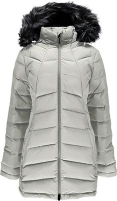 Spyder Women's Syrround Long Faux Fur Down Coat