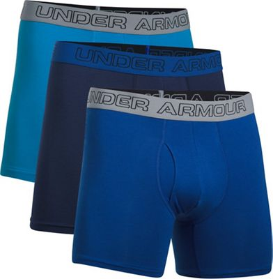 Under Armour Men's Charged Cotton Stretch 6IN Boxerjock - 3 Pack