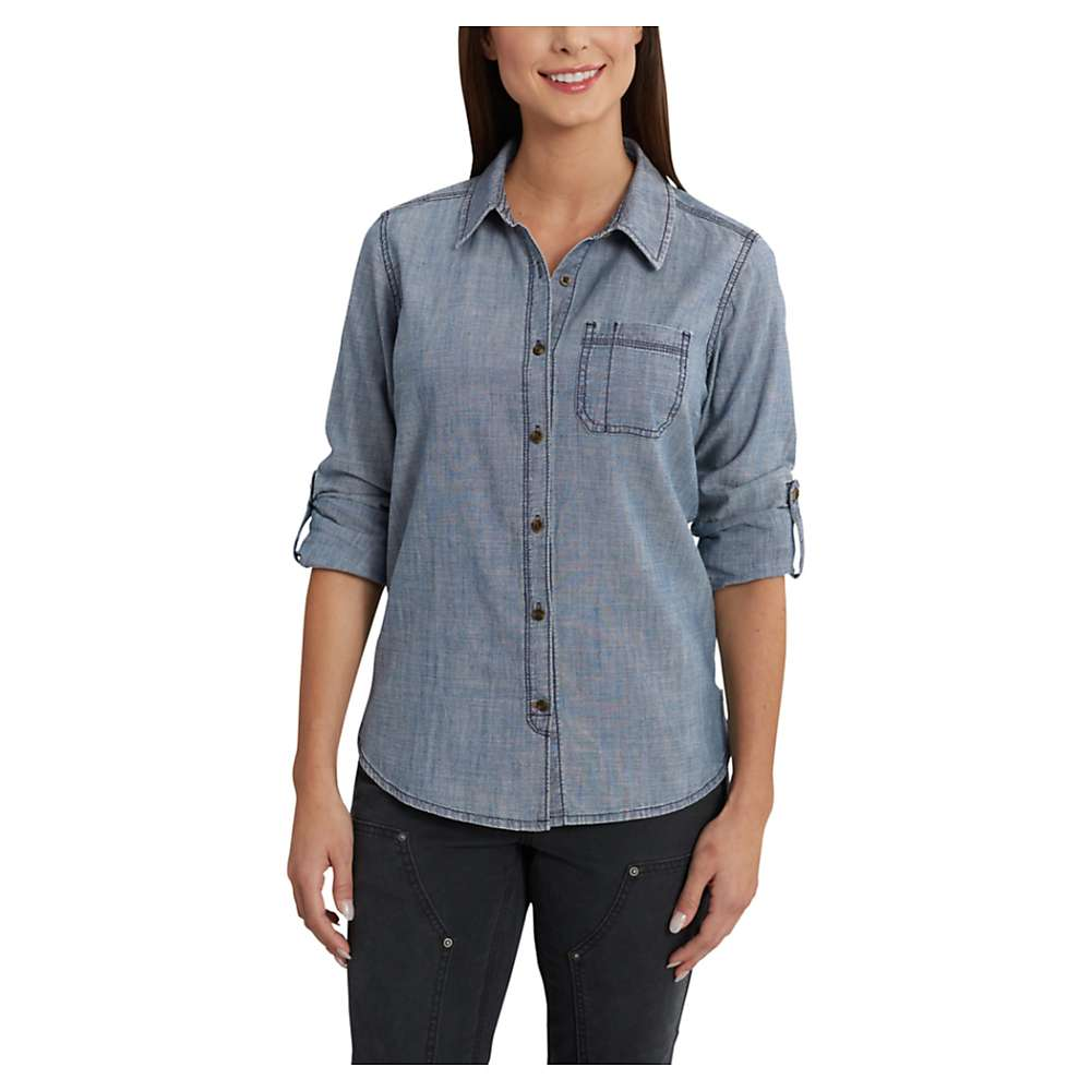 Carhartt women 39 s dodson chambray ls shirt moosejaw for Chambray 7 s